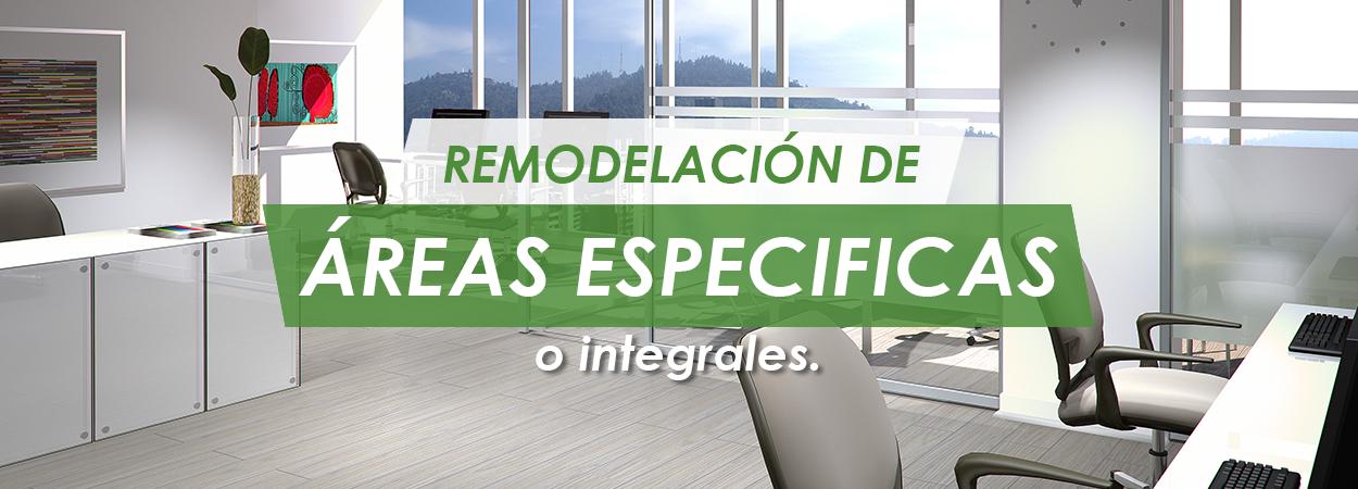 remodelacion de áreas especificas